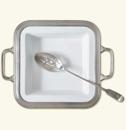 MATCH PEWTER GIANNA SQUARE SERVING DISH WITH HANDLES,