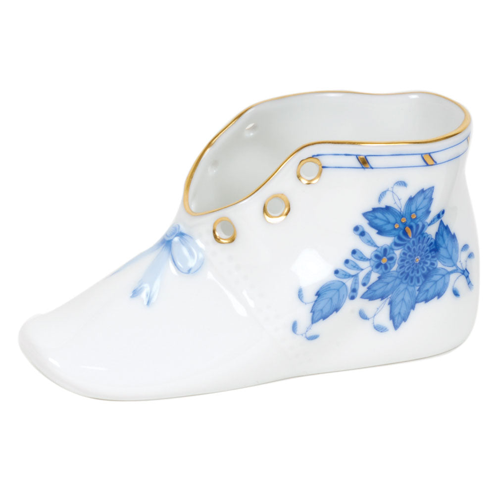 HEREND CHINESE BOUQUET BLUE BABY SHOE