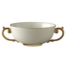 L'OBJECT AEGEAN GOLD SOUP BOWL WITH HANDLES