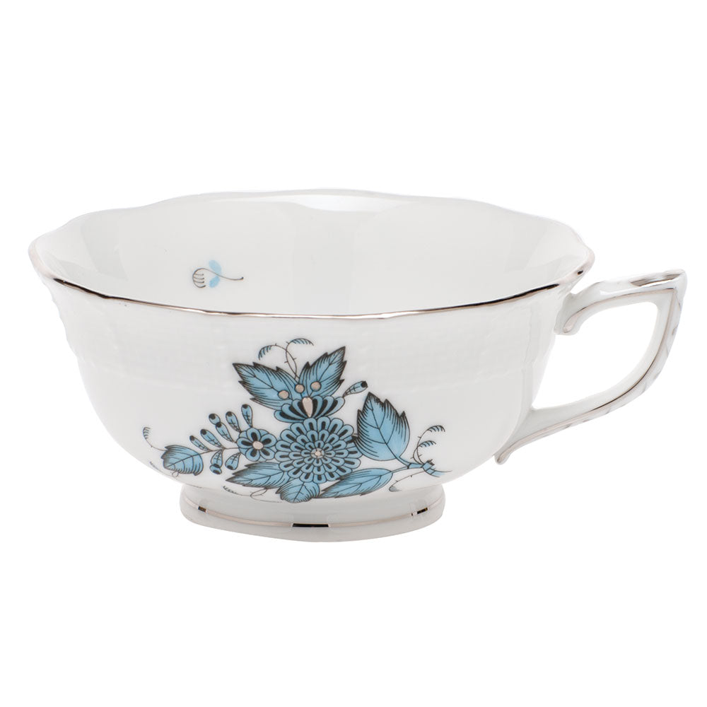 HEREND CHINESE BOUQUET TURQUOISE/PLATINUM TEA CUP