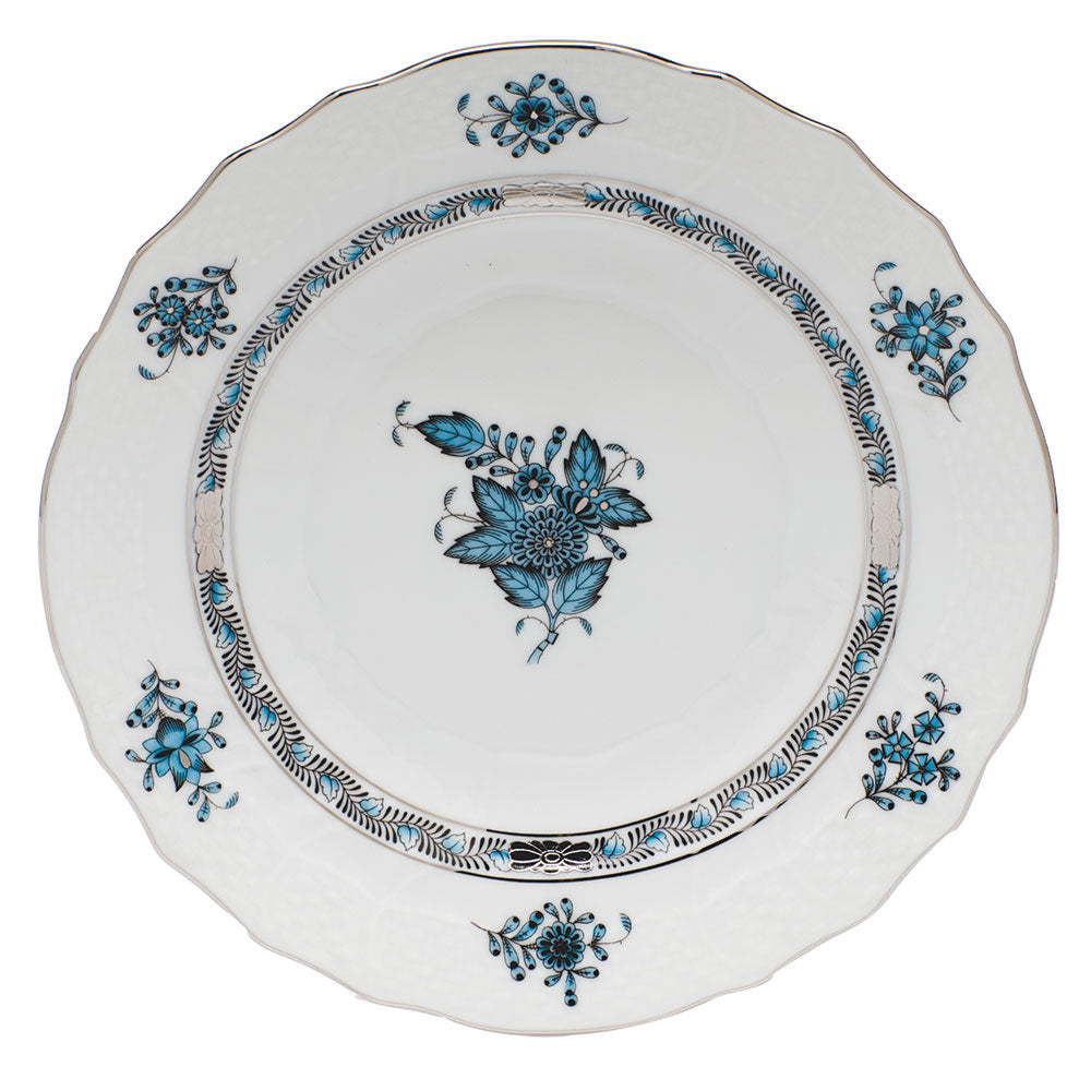 HEREND CHINESE BOUQUET TURQUOISE/PLATINUM SALAD PLATE