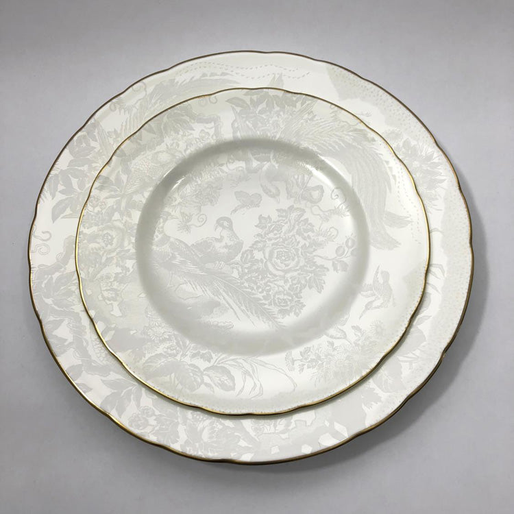 ROYAL CROWN DERBY PEARL AVES BREAD & BUTTER PLATE
