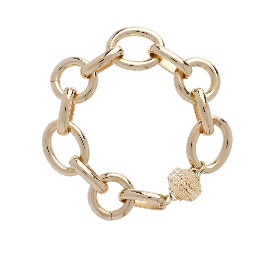 CLARA WILLIAMS GOLD COAST BRACELET, 1 STRAND, 7.5""
