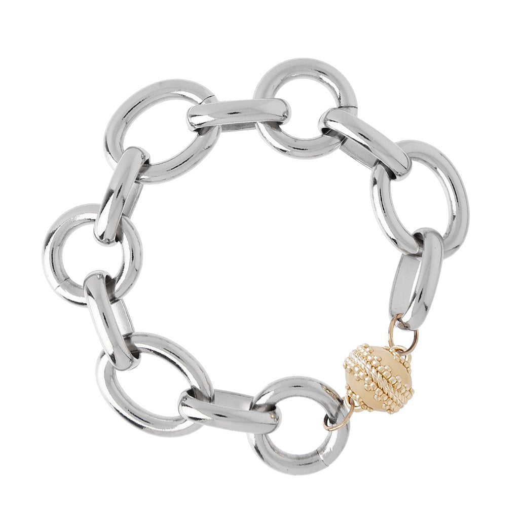 CLARA WILLIAMS GOLD COAST RHODIUM PLATED BRACELET