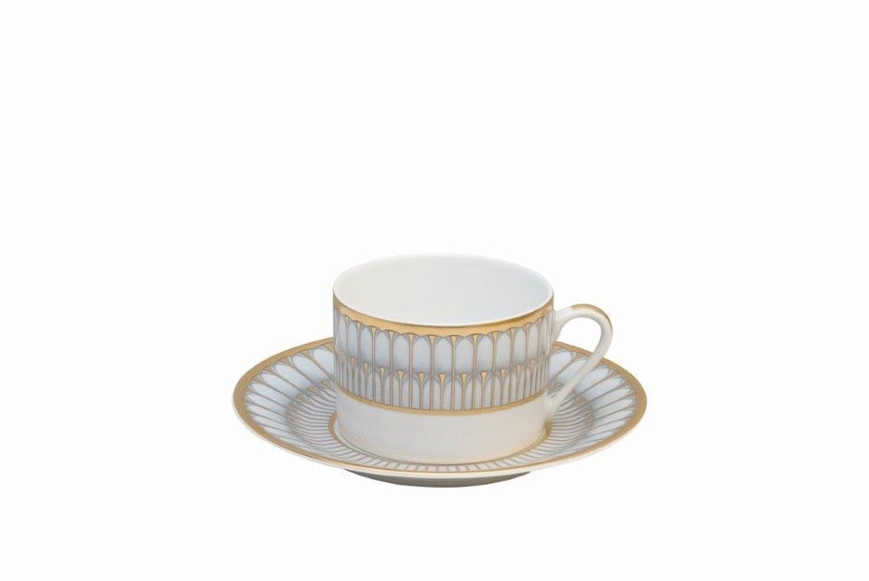 DESHOULIERES ARCADES GREY/GOLD TEA CUP
