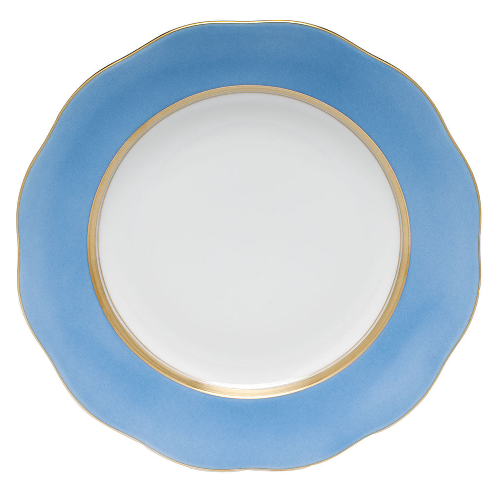 HEREND SILK RIBBON CORNFLOWER DESSERT PLATE