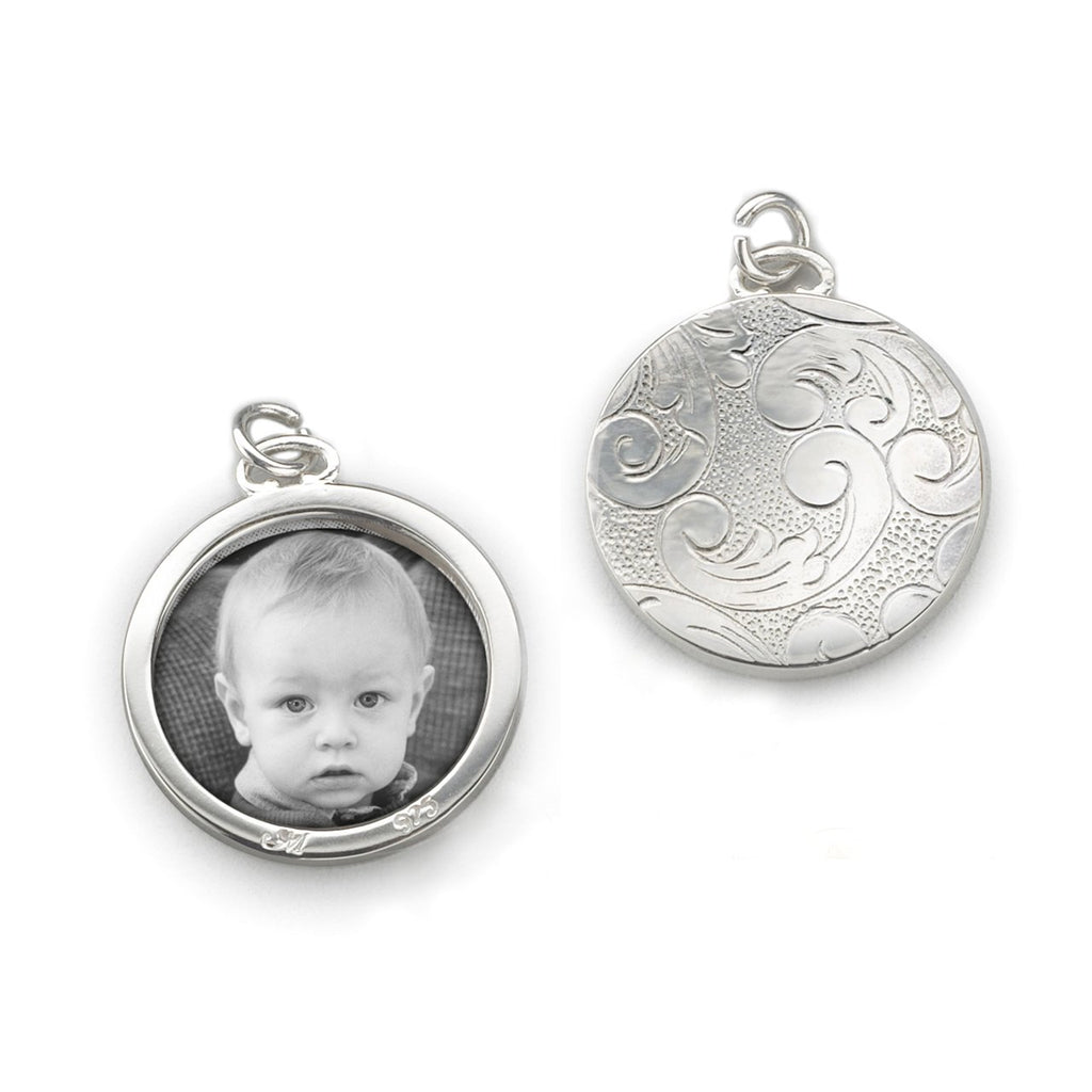 MONICA RICH KOSANN FLORAL HALF-LOCKET, STERLING SILVER