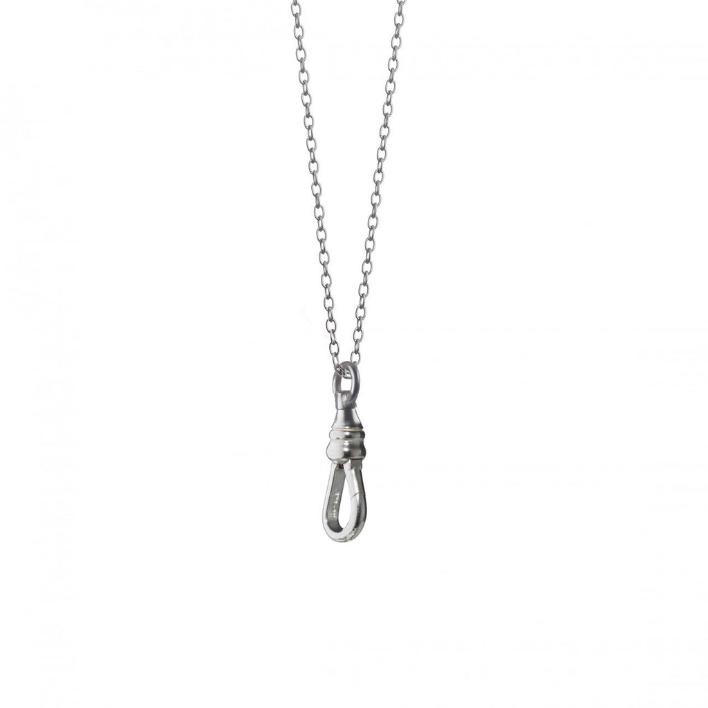 "MONICA RICH KOSANN ""INDIVIDUALITY"" SILVER CHARM NECKLACE"
