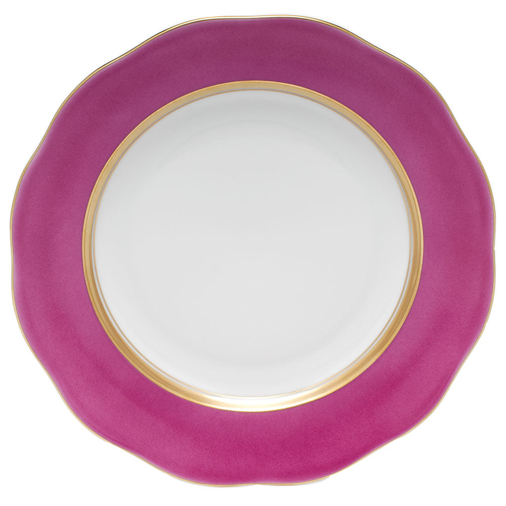 HEREND SILK RIBBON RASPBERRY DESSERT PLATE