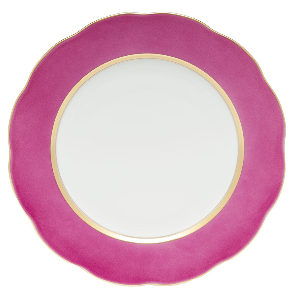 HEREND SILK RIBBON RASPBERRY SERVICE PLATE