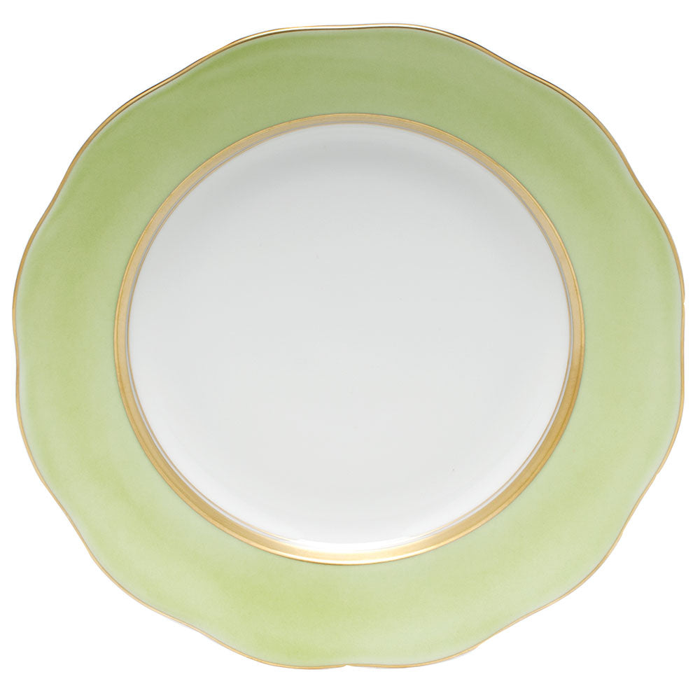 HEREND SILK RIBBON LIME DESSERT PLATE