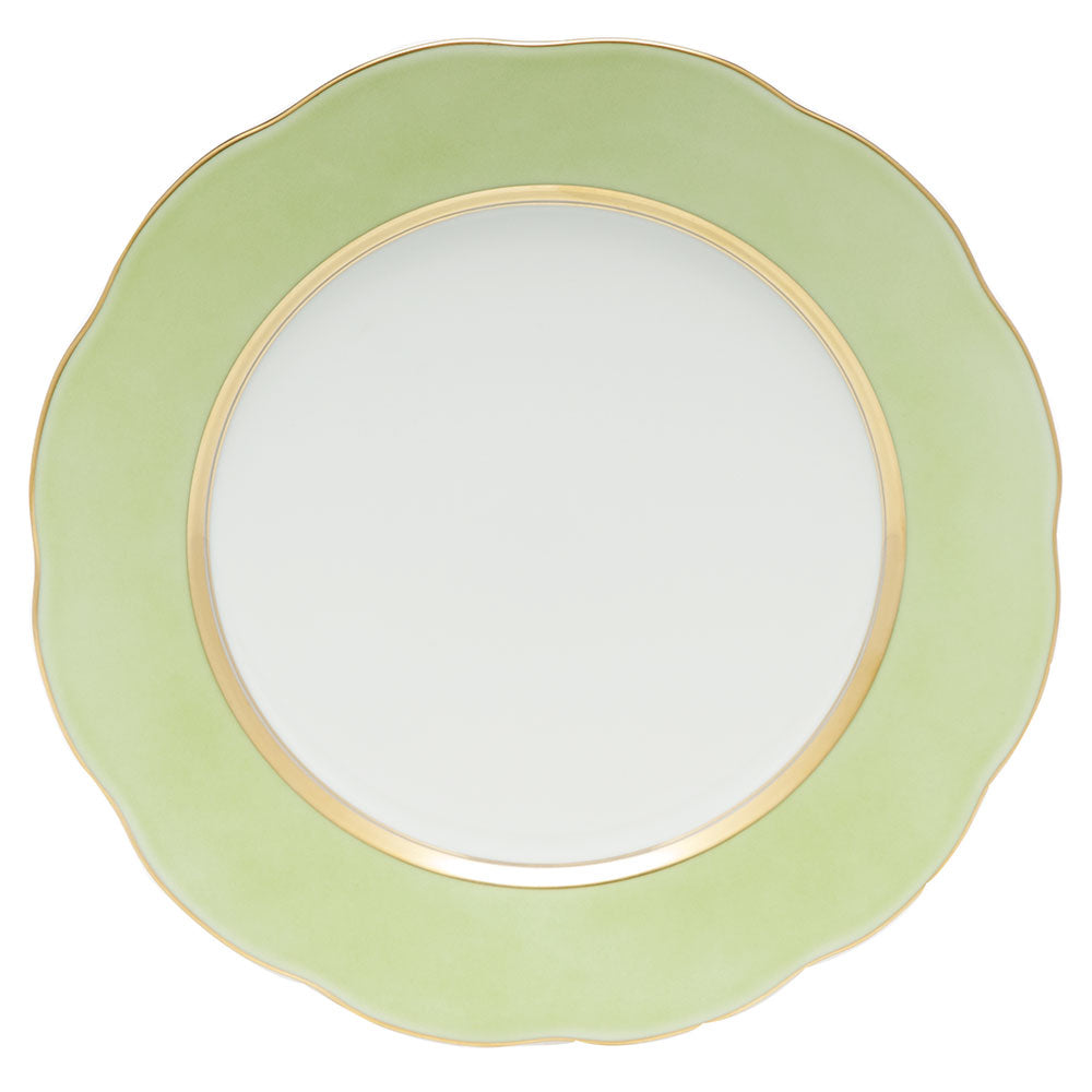 HEREND SILK RIBBON LIME SERVICE PLATE
