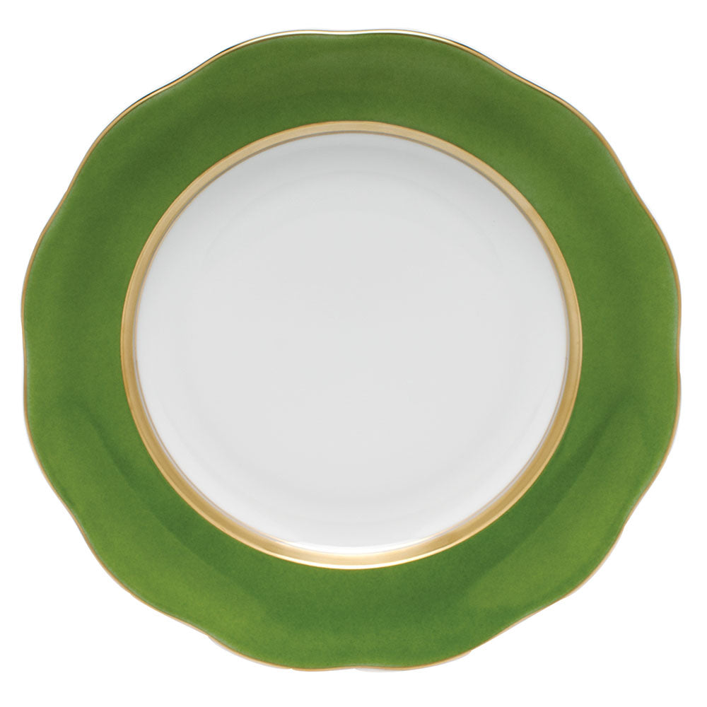 HEREND SILK RIBBON FERN DESSERT PLATE
