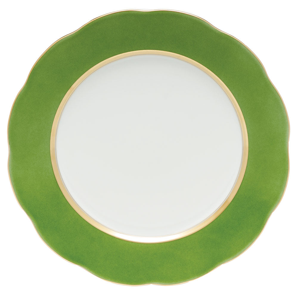 HEREND SILK RIBBON FERN SERVICE PLATE