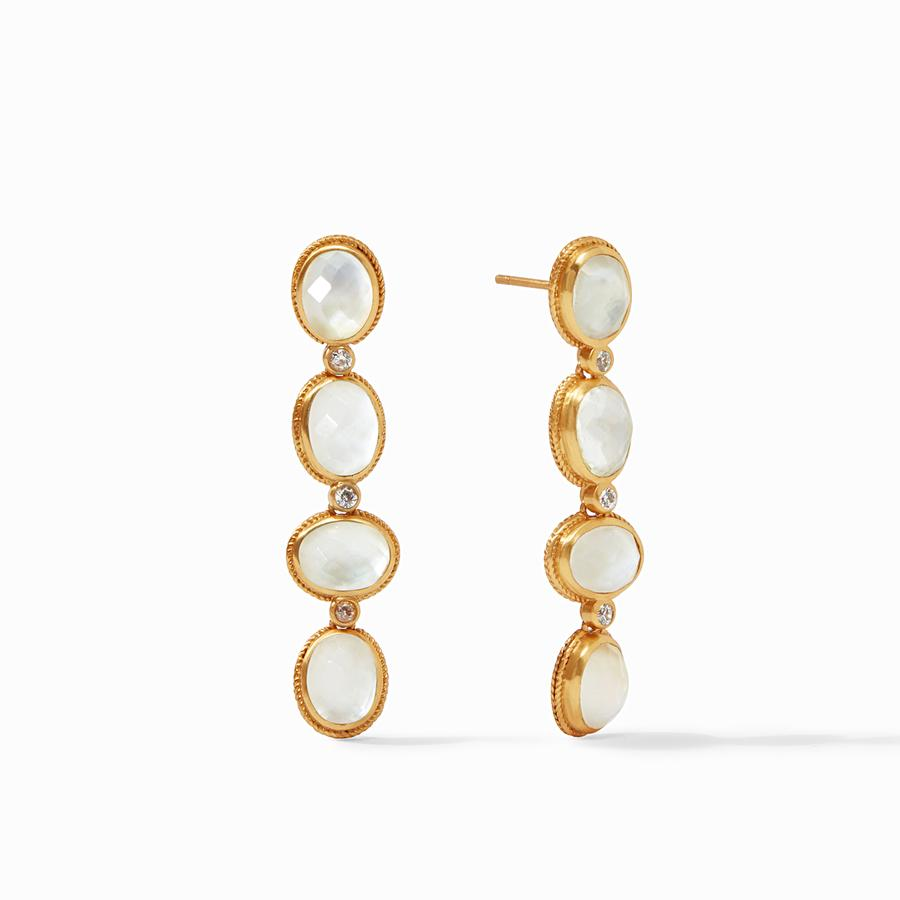 JULIE VOS CALYPSO STATEMENT EARRING, IRIDESCENT CLEAR