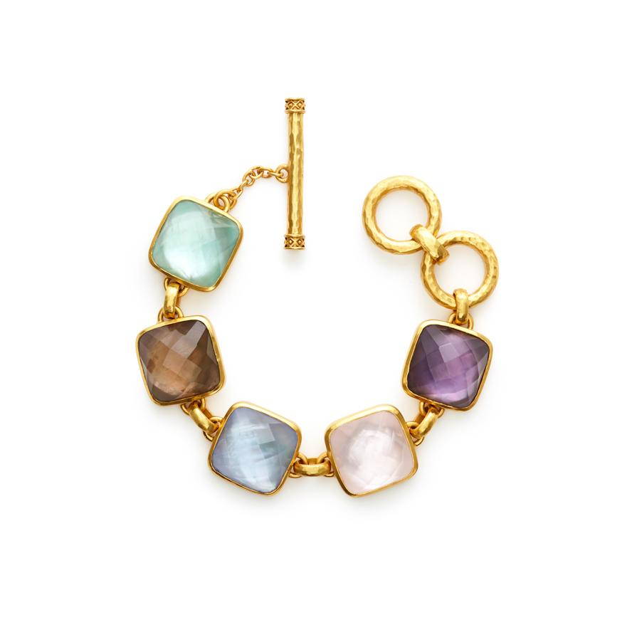 JULIE VOS CATALINA GOLD MULTI STONE BRACELET