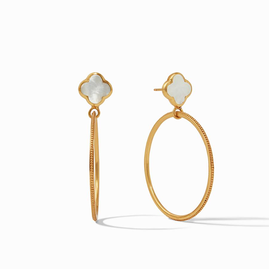 JULIE VOS CHLOE CIRQUE EARRING, MOTHER OF PEARL
