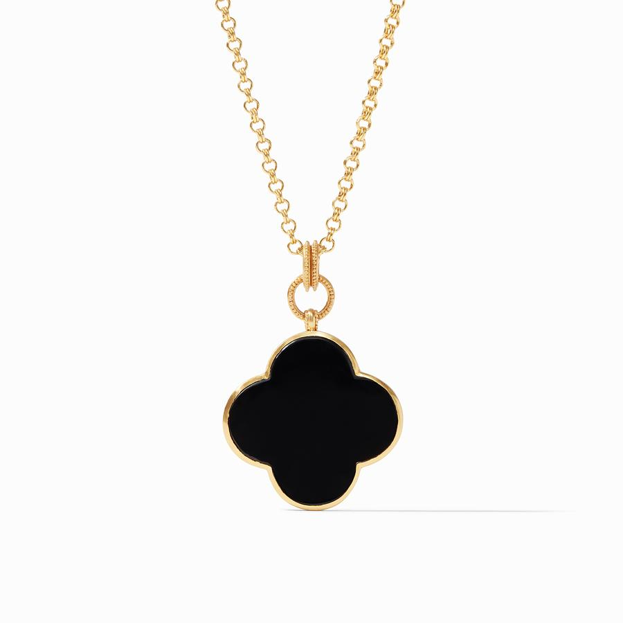 JULIE VOS CHLOE STATEMENT PENDANT/OBSIDIAN BLACK