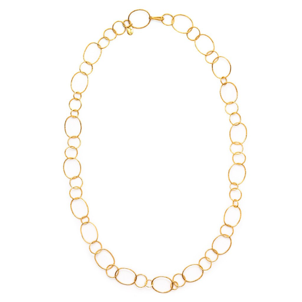 JULIE VOS COLETTE GOLD CHAIN LINK NECKLACE