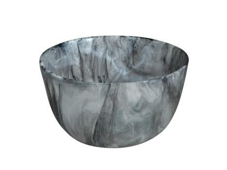 NASHI HOME RESIN DEEP MEDIUM BOWL, BLACK SWIRL