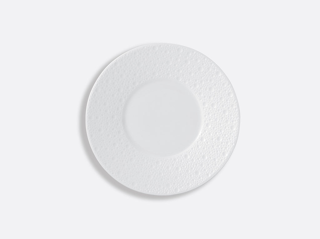 BERNARDAUD ECUME WHITE BREAD & BUTTER PLATE