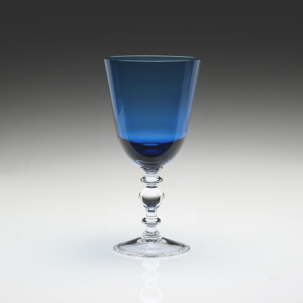 WILLIAM YEOWARD COUNTRY FANNY BLUE GOBLET