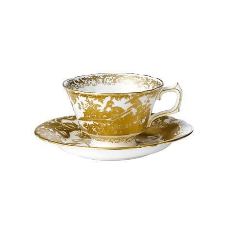 ROYAL CROWN DERBY GOLD AVES TEA SAUCER