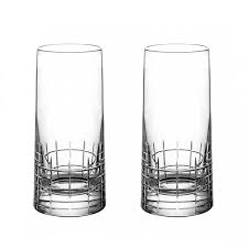 CHRISTOFLE GRAPHIK HIGHBALL, SET OF 2