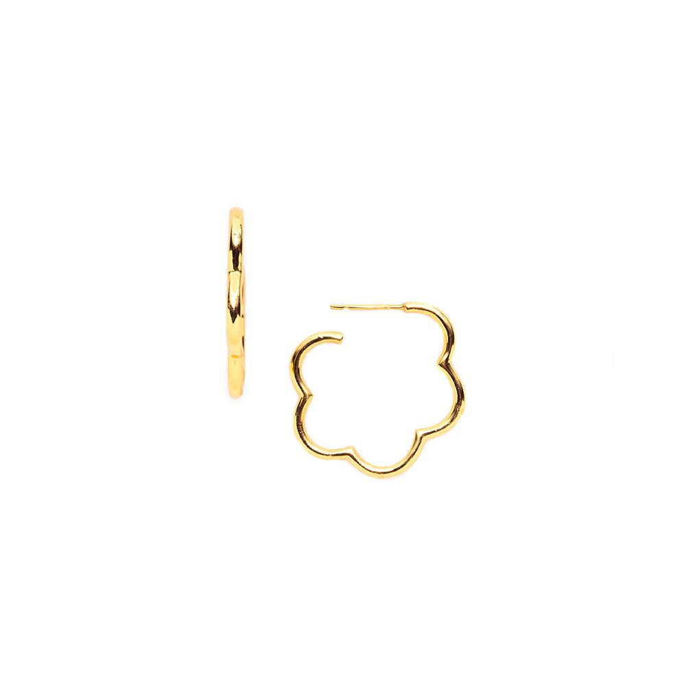 JULIE VOS GARDENIA GOLD MEDIUM HOOP