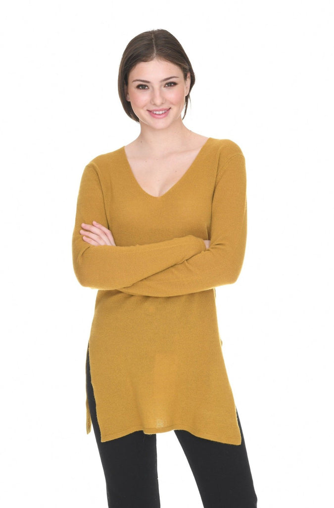 IN CASHMERE V NECK TUNIC, ASSORTED COLORS/SIZES