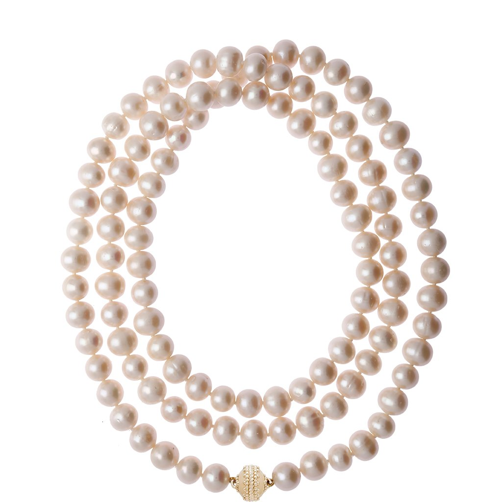CLARA WILLIAMS OPERA LENGTH FRESHWATER POTATO PEARL 1 STRAND NECKLACE, 48""