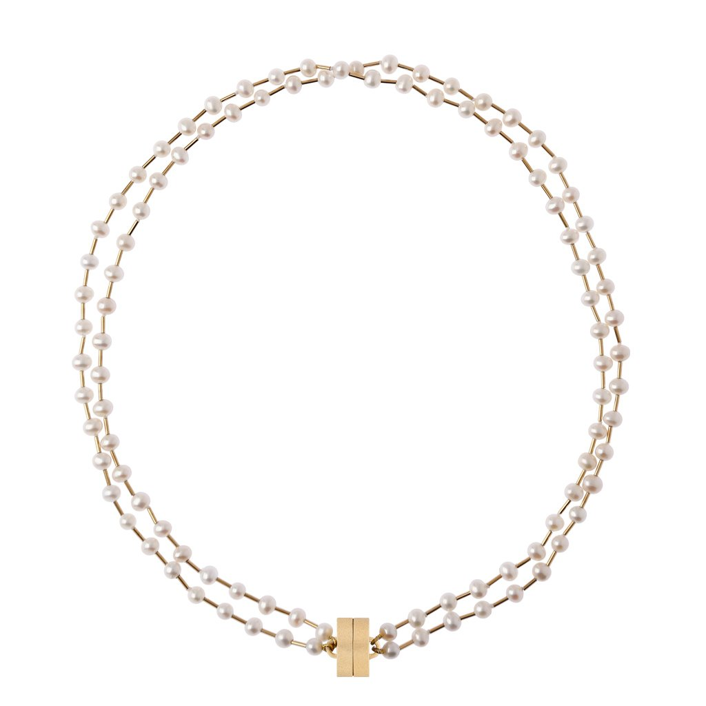CLARA WILLIAMS MARGARET FRESHWATER 2 STRAND PEARL NECKLACE