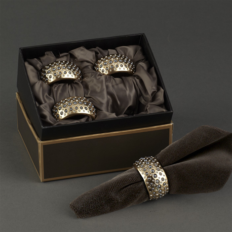 L'OBJECT PERLEE GOLD NAPKIN RING, SET OF 4