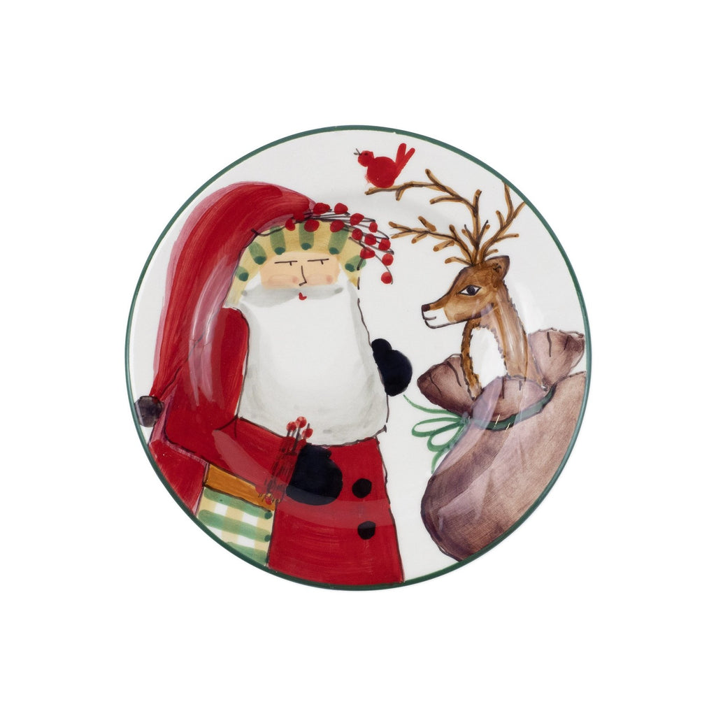 VIETRI OLD ST. NICK 2019 LIMITED EDITION SALAD PLATE