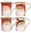 VIETRI OLD ST. NICK MUG, SET OF 4