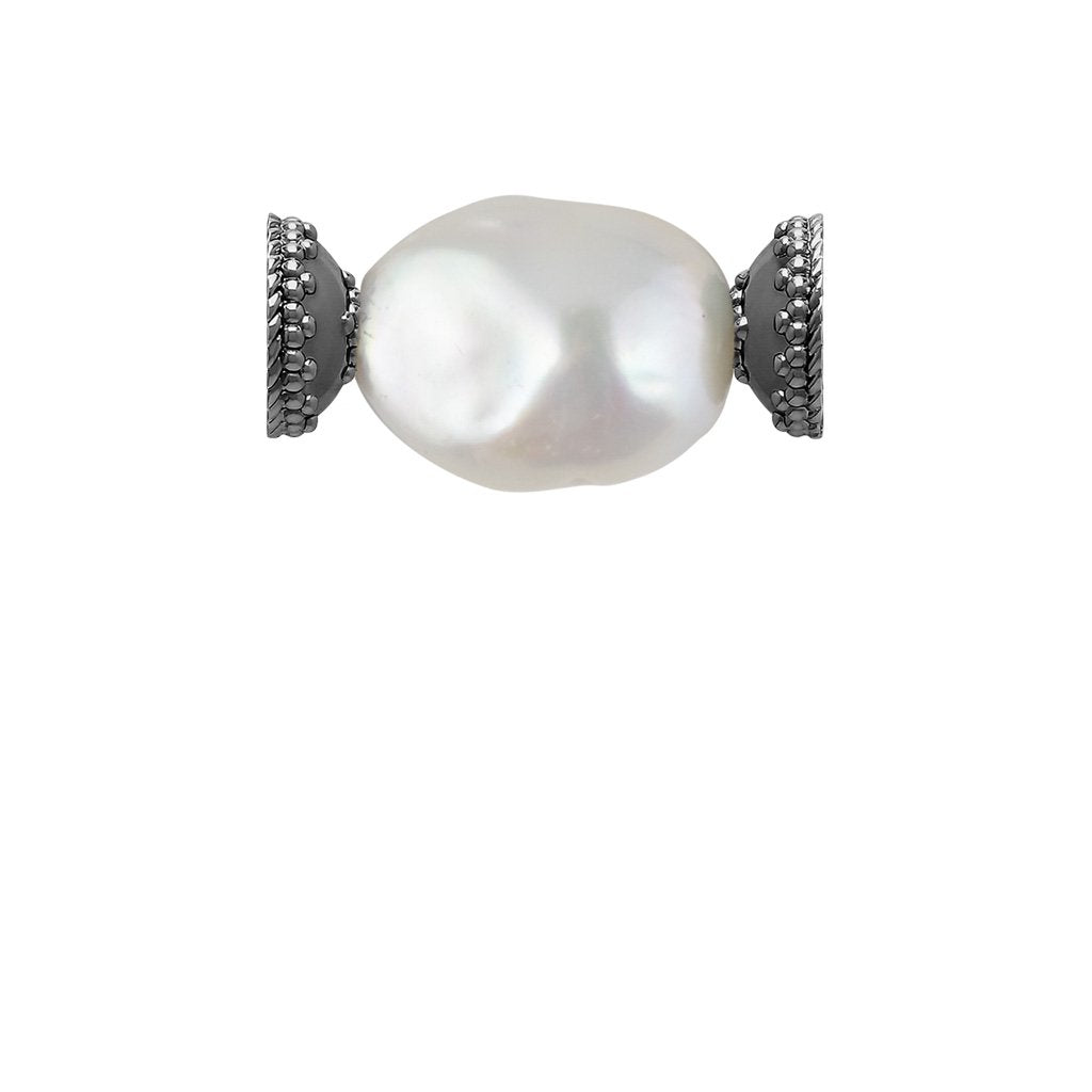 CLARA WILLIAMS FRESHWATER WHITE BAROQUE PEARL CENTERPIECE