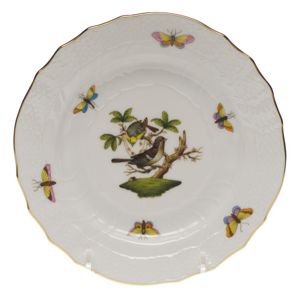 HEREND ROTHSCHILD BIRD BREAD & BUTTER PLATE, #1