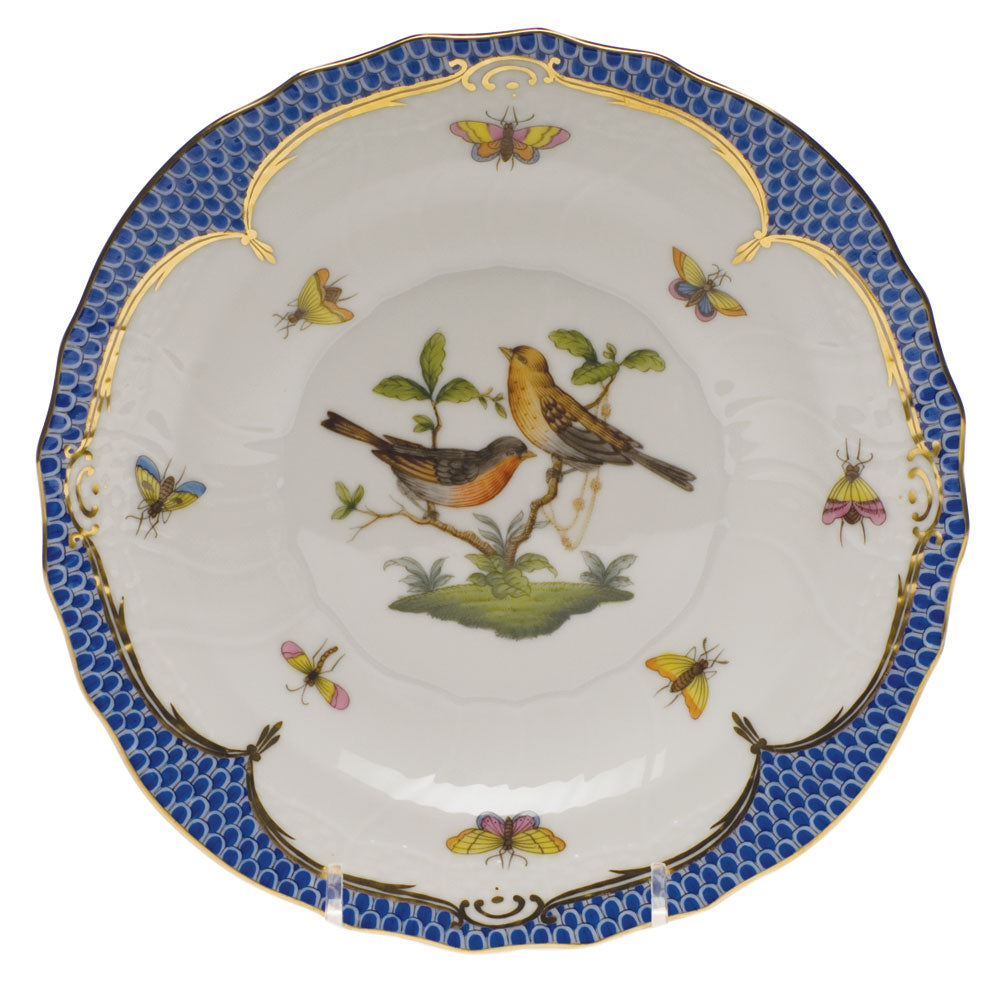HEREND ROTHSCHILD BLUE BORDER DESSERT PLATE