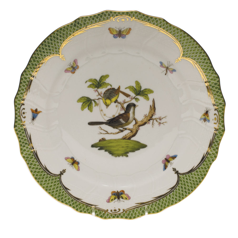 HEREND ROTHSCHILD BIRD GREEN BORDER DINNER PLATE