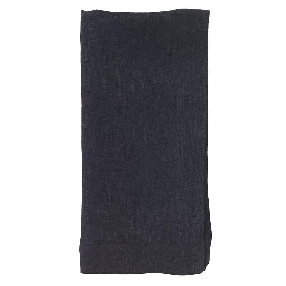 BODRUM RIVIERA BLACK NAPKIN, SET OF 2