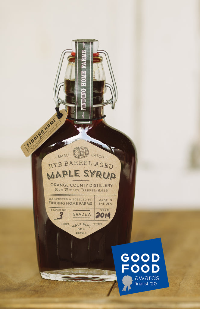 FINDING HOME FARMS RYE BARREL-AGED MAPLE SYRUP