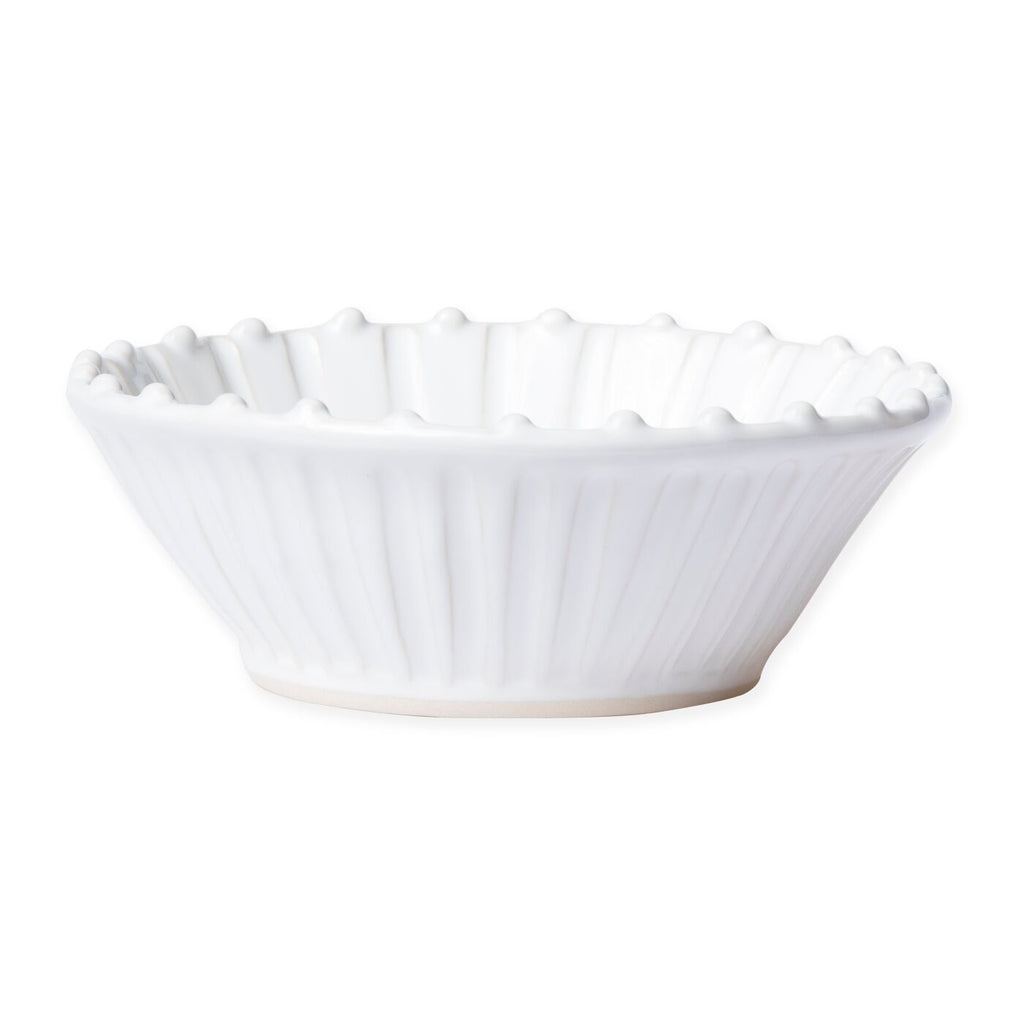 VIETRI INCANTO STONE WHITE STRIPE CEREAL BOWL