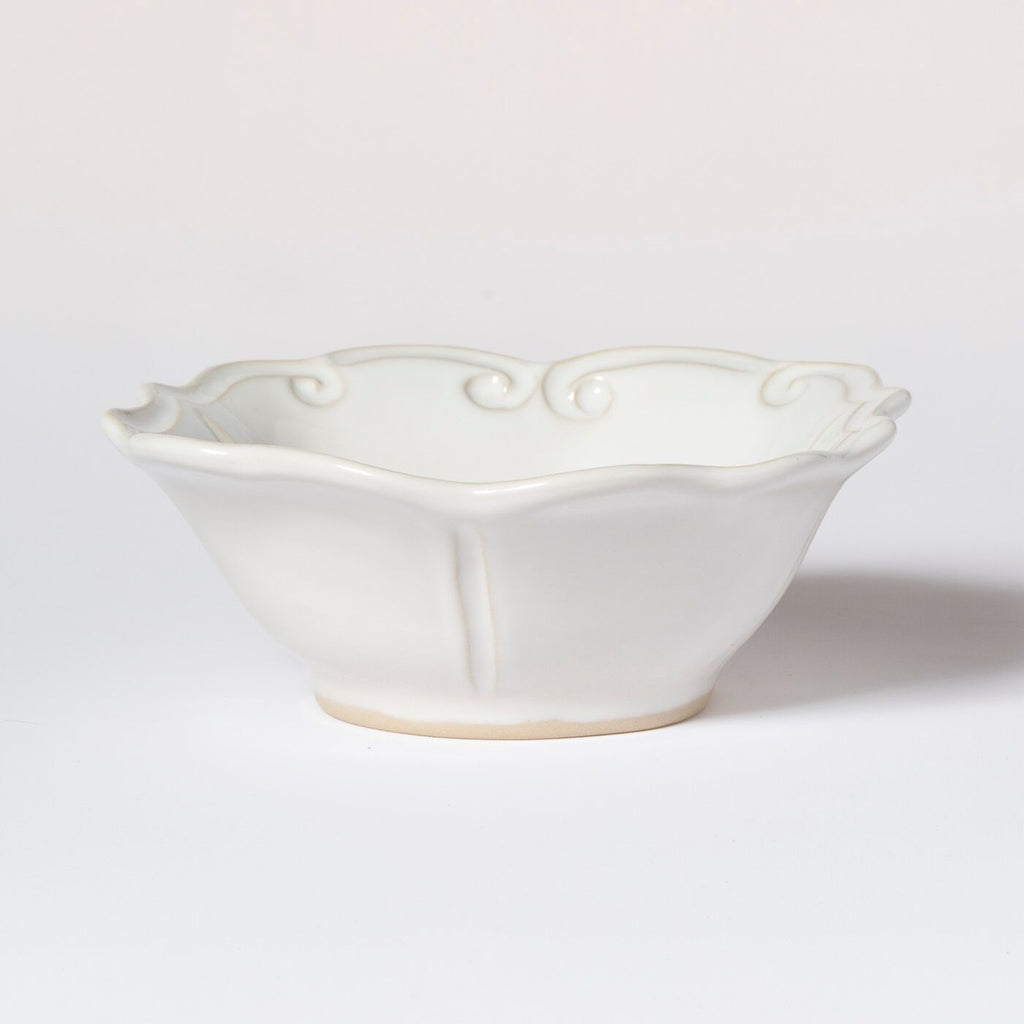 VIETRI INCANTO STONE WHITE BAROQUE CEREAL BOWL