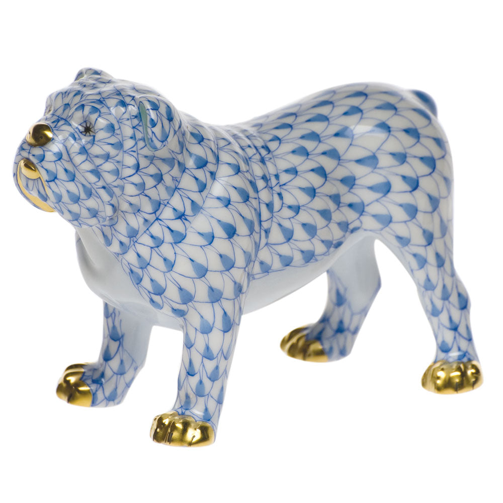 HEREND BLUE BULLDOG