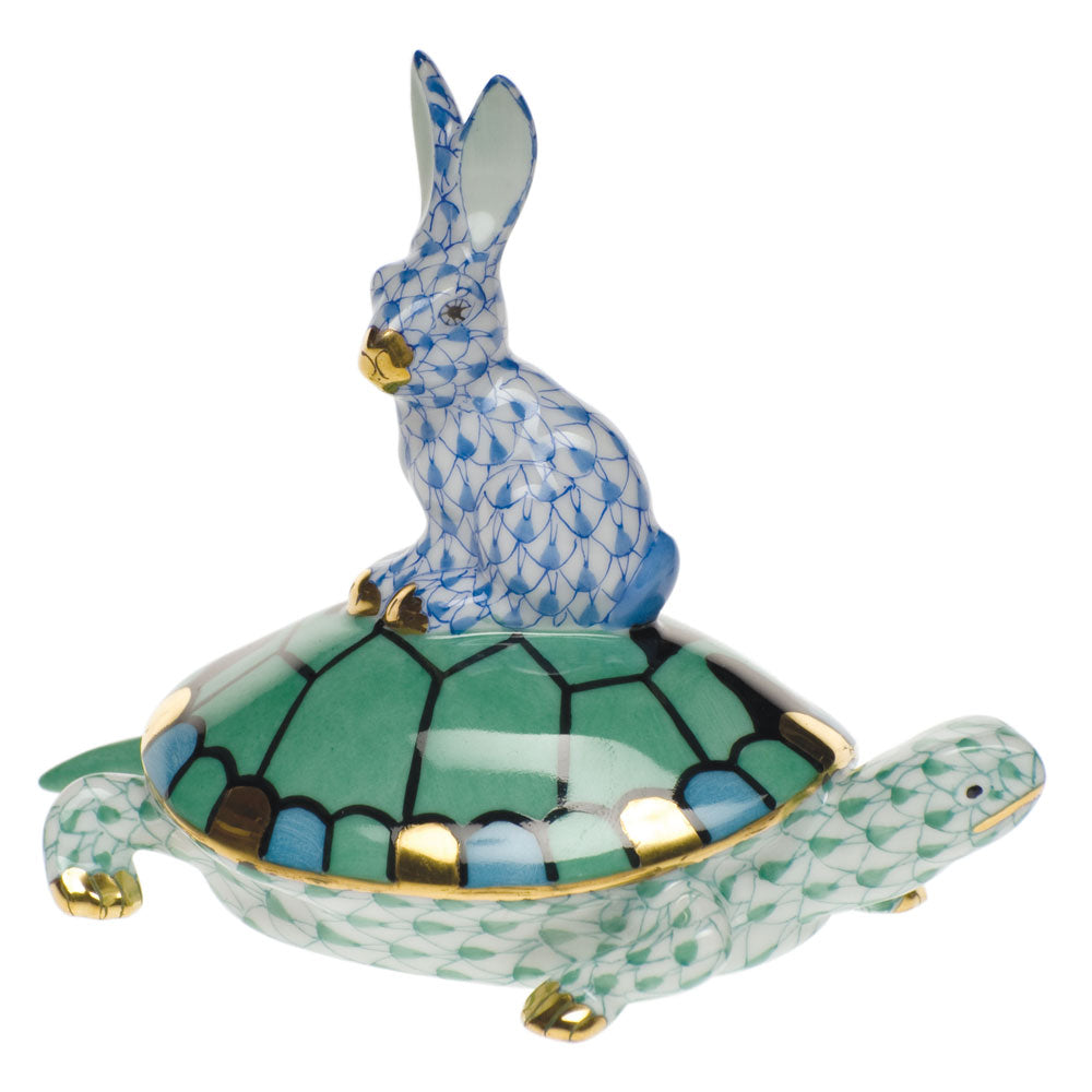 HEREND TORTOISE & HARE, SMALL