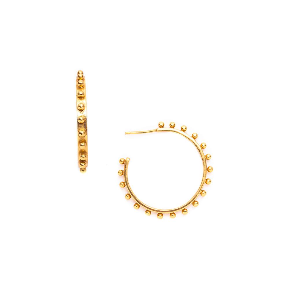 JULIE VOS SOHO GOLD MEDIUM HOOP EARRING