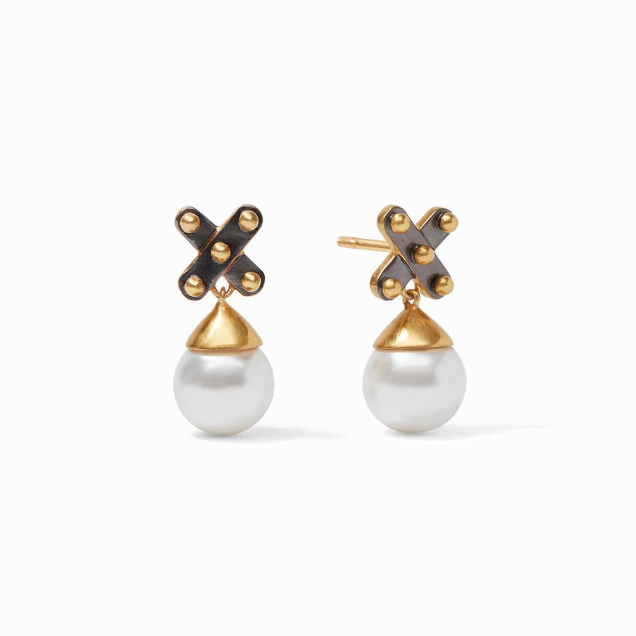 JULIE VOS SOHO PEARL EARRINGS, MIXED METAL