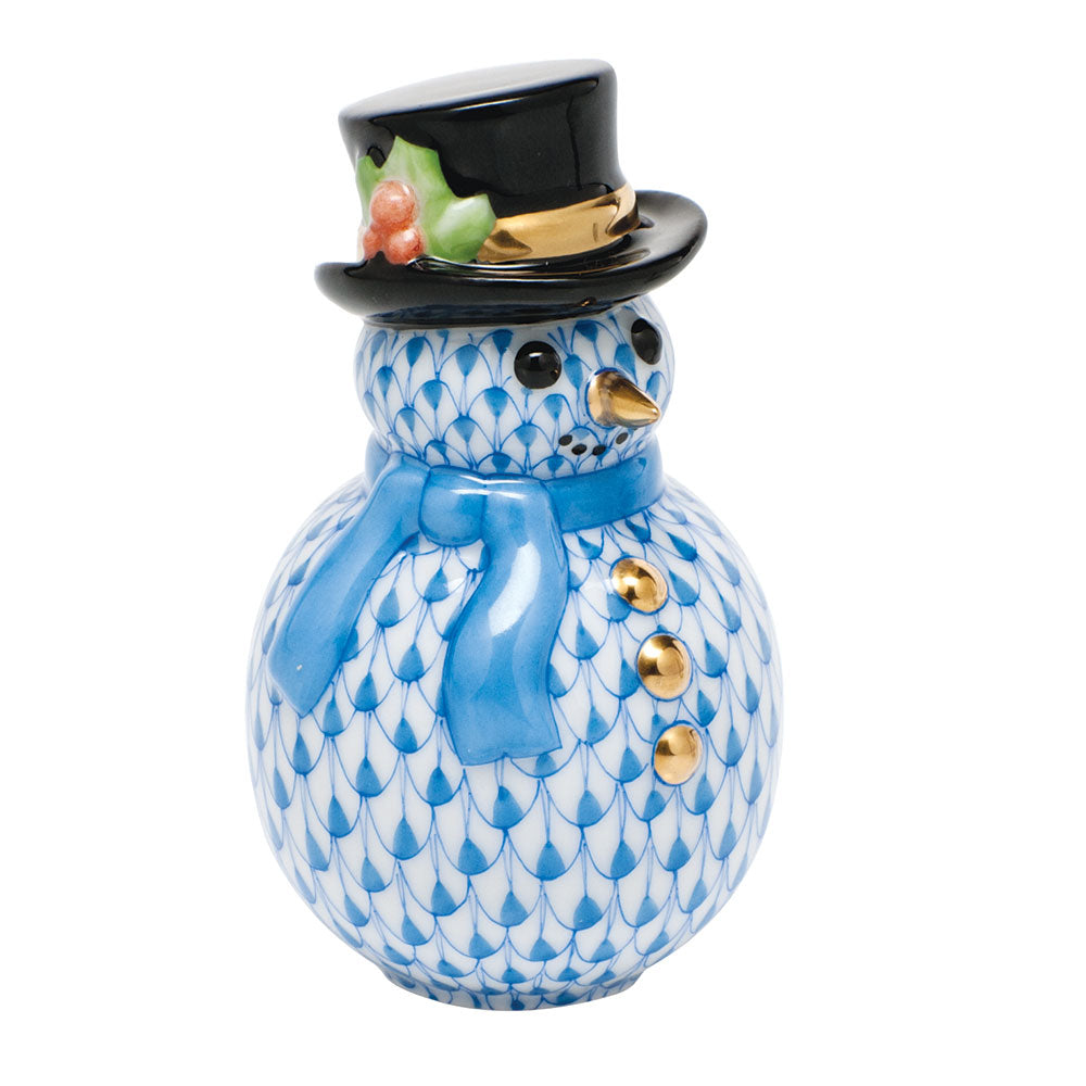 HEREND BLUE SNOWMAN
