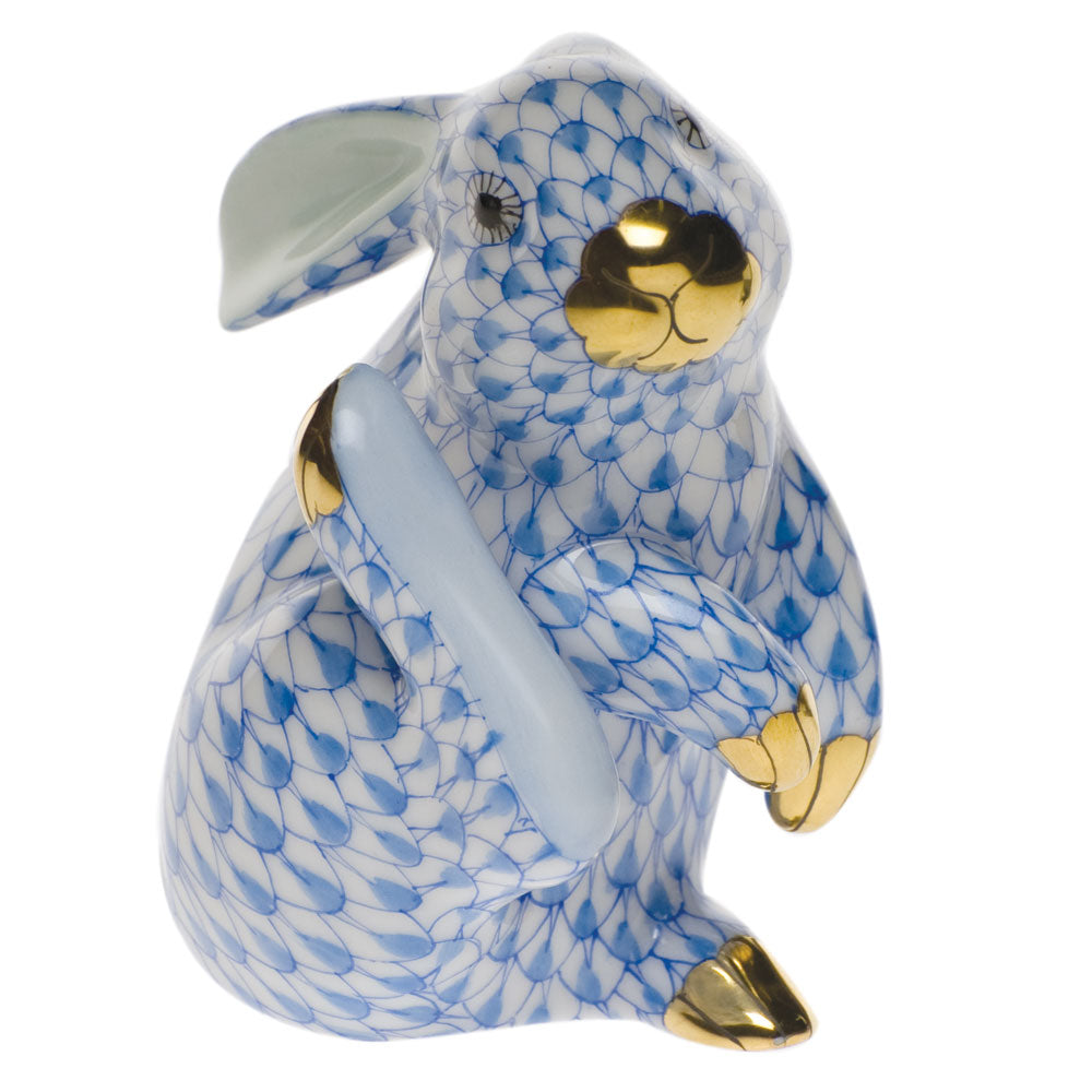 HEREND BLUE SCRATCHING BUNNY