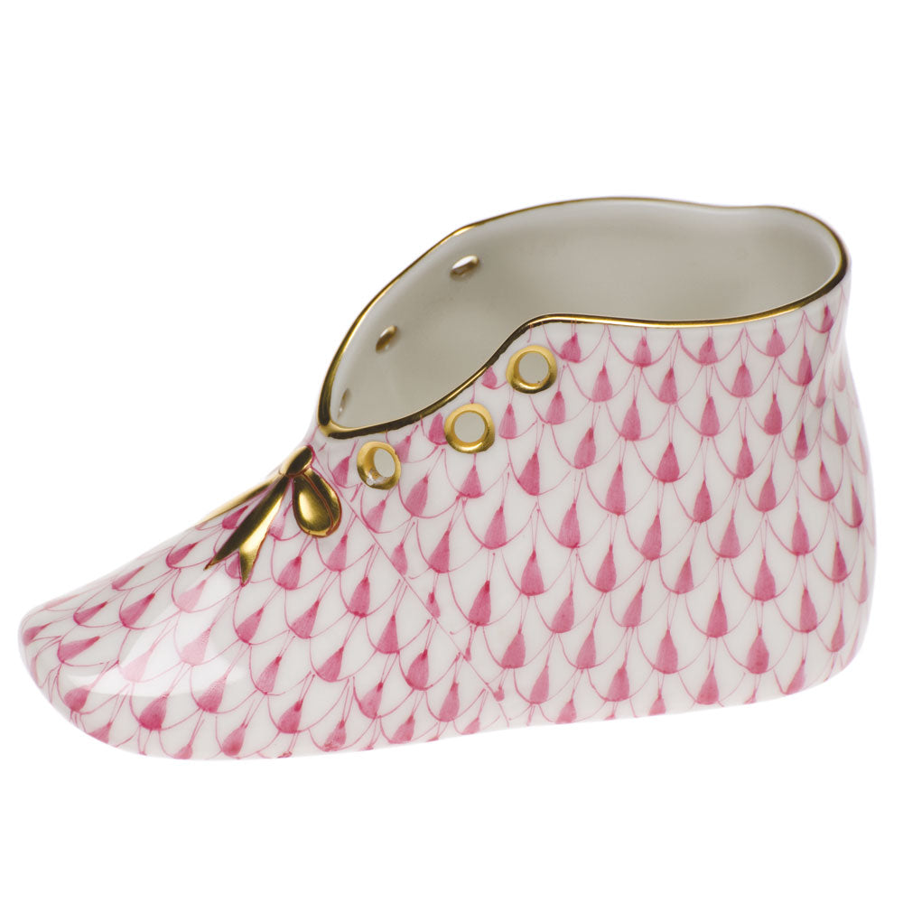 HEREND PINK FISHNET BABY SHOE